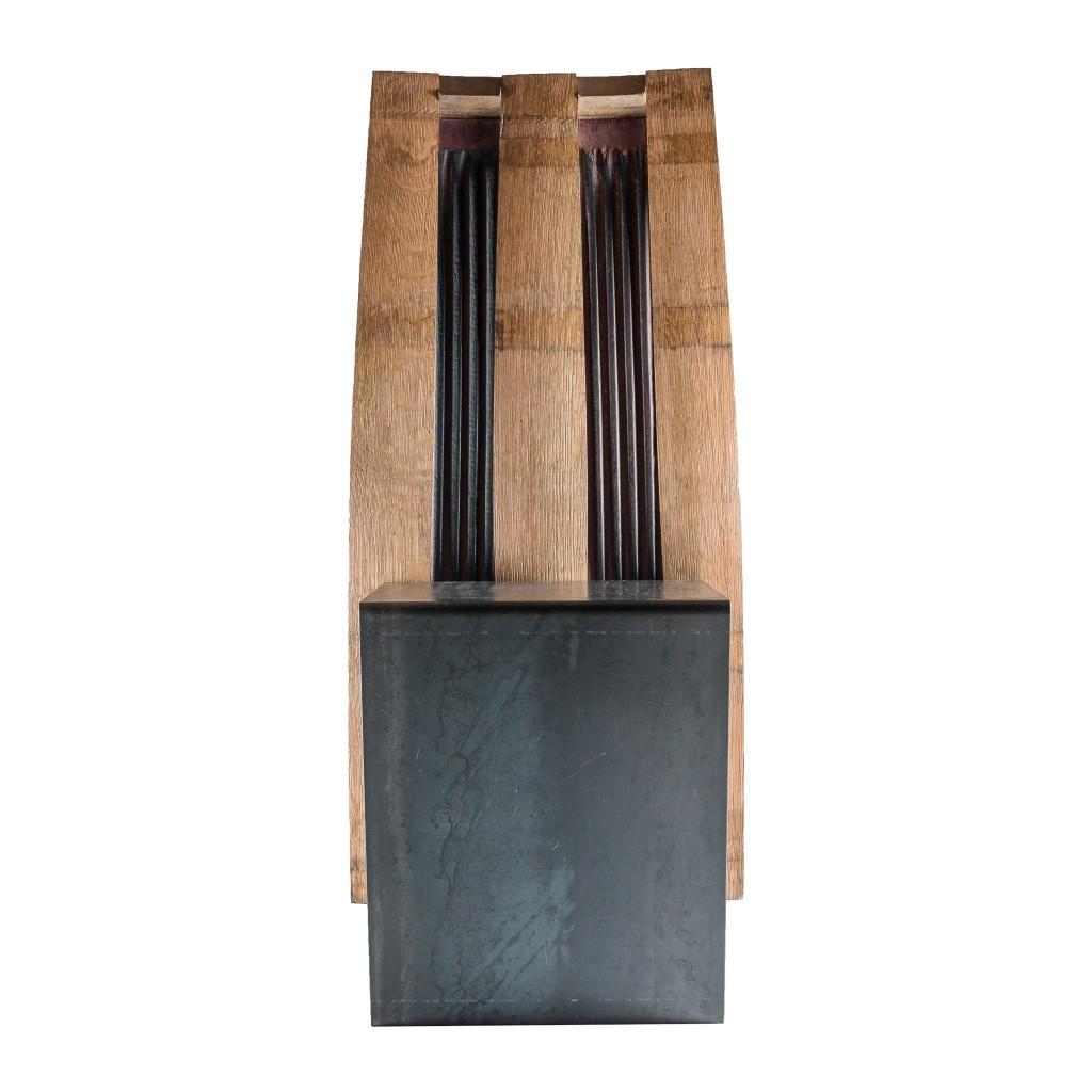 <p>Seduta squadrata in ferro, che prosegue creando con un unico pezzo anche la base del prodotto. L'intreccio speculare delle assi crea un piacevole gioco di forme e segue sullo schienale una piacevole forma aerodinamica. Il termine Barrique indica le preziose botti che contengono il vino, fatte di legno pregiato in grado arricchire la bevanda con […]</p>