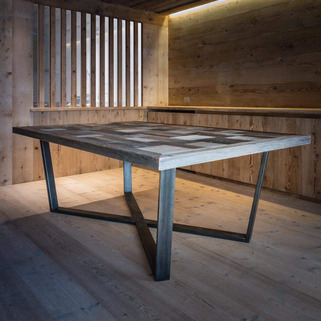 Tavolo tofane woodart cortina - Tavolo legno ferro ...
