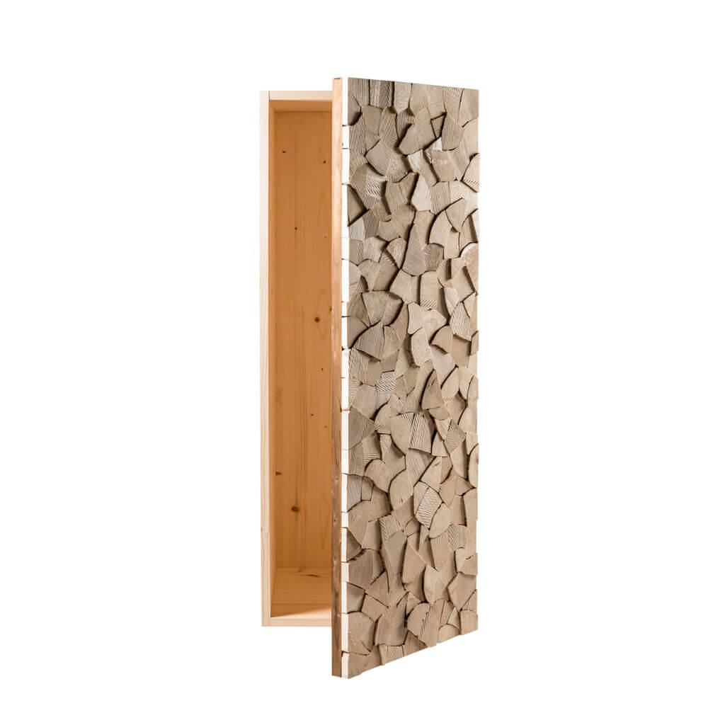 <p>Questo prodotto firmato Wood Art Cortina è un monumento alla natura, volto ad aggiungere comodità alla bellezza del legname accatastato. Si tratta di un mobile ad incastro in cui adagiare la legna per il fuoco. Splendido se posizionato in prossimità del caminetto in una dimora di montagna, sublime in un contesto moderno.</p>
